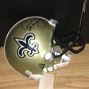 New Orleans Saints Archie Manning Auto Helmet